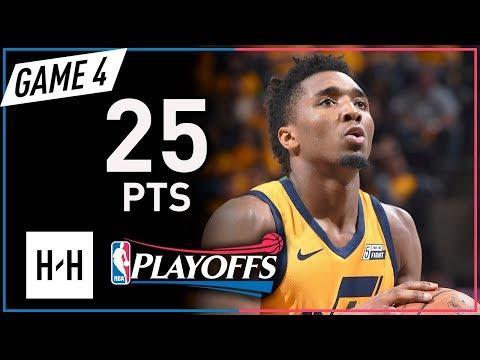 Donovan Mitchell Full Game 4 Highlights Jazz vs Rockets 2018 NBA Playoffs WCSF - 25 Points