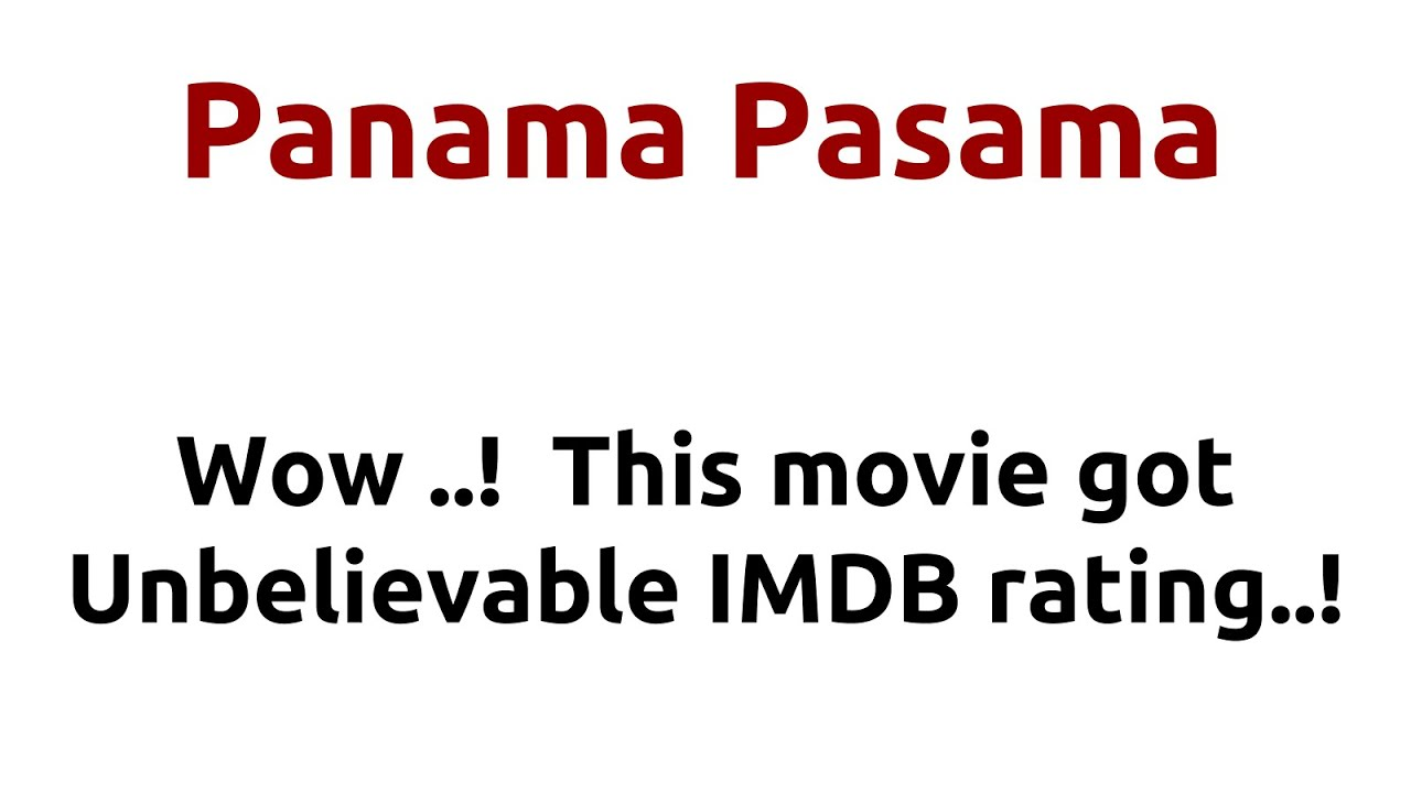 Panama Pasama |1968 movie |IMDB Rating |Review | Complete report ...