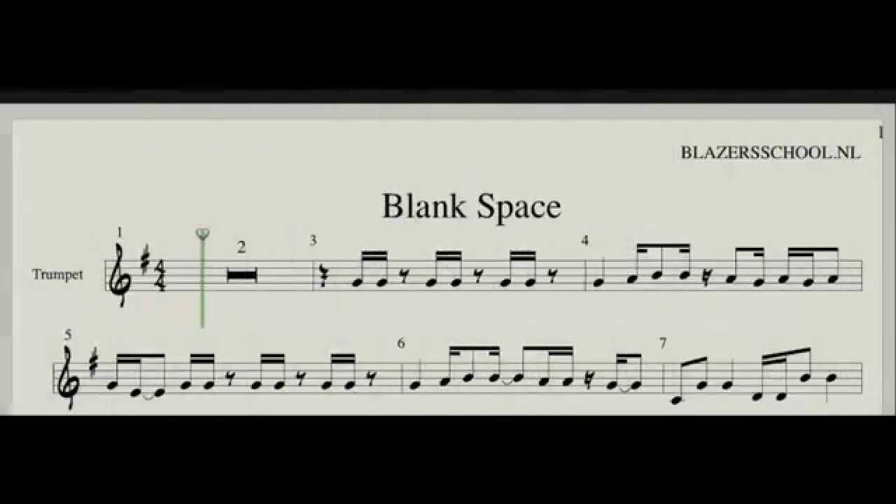 Taylor swift blank space trumpet real trumpet sound youtube
