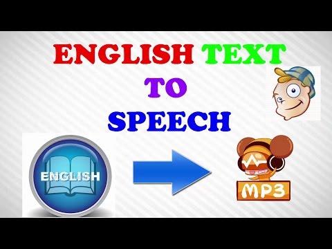 English text to Speech - English text to Speech converter