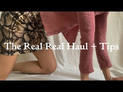 The Real Real Haul + Tips