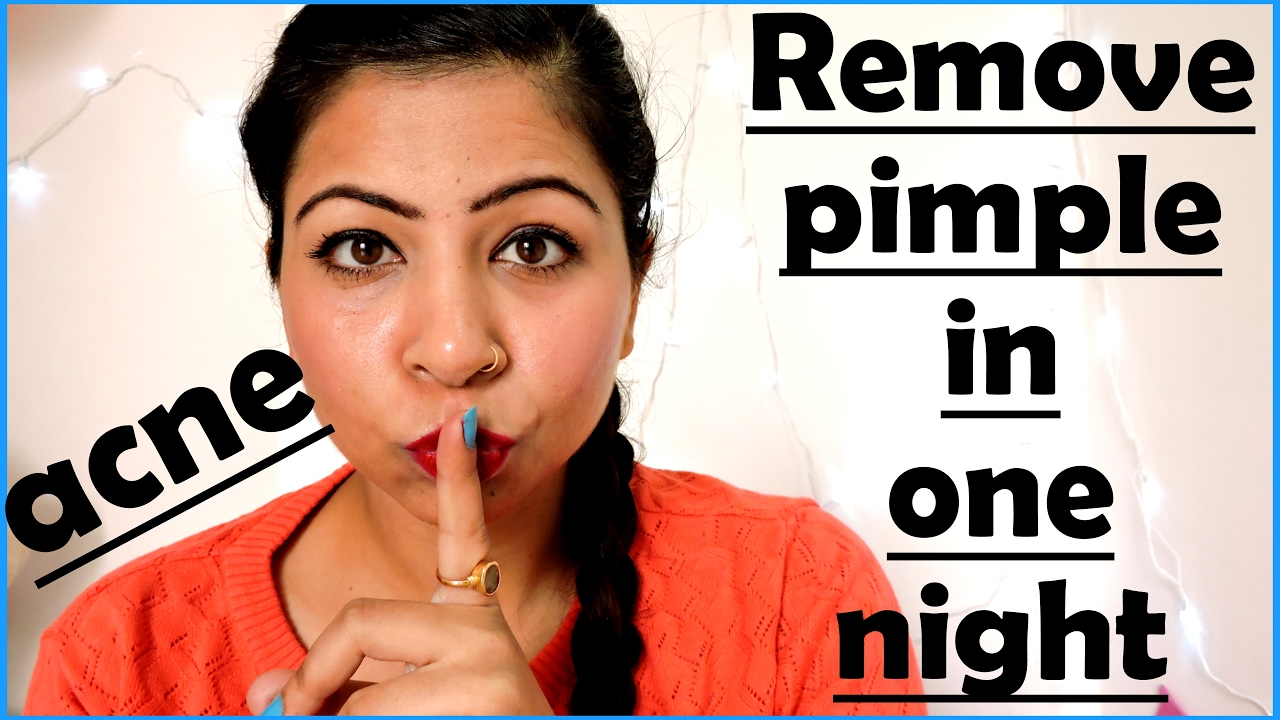 Think, how to get rid of pimples in one night are