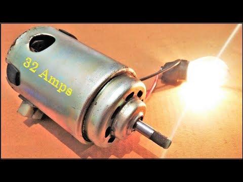 Wow!!! Amazing 12V High Current DC Motor Energy Generator
