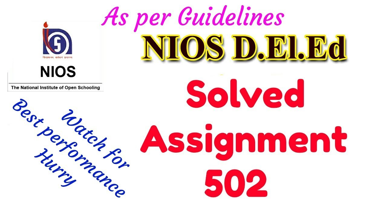 Solved nios assignment