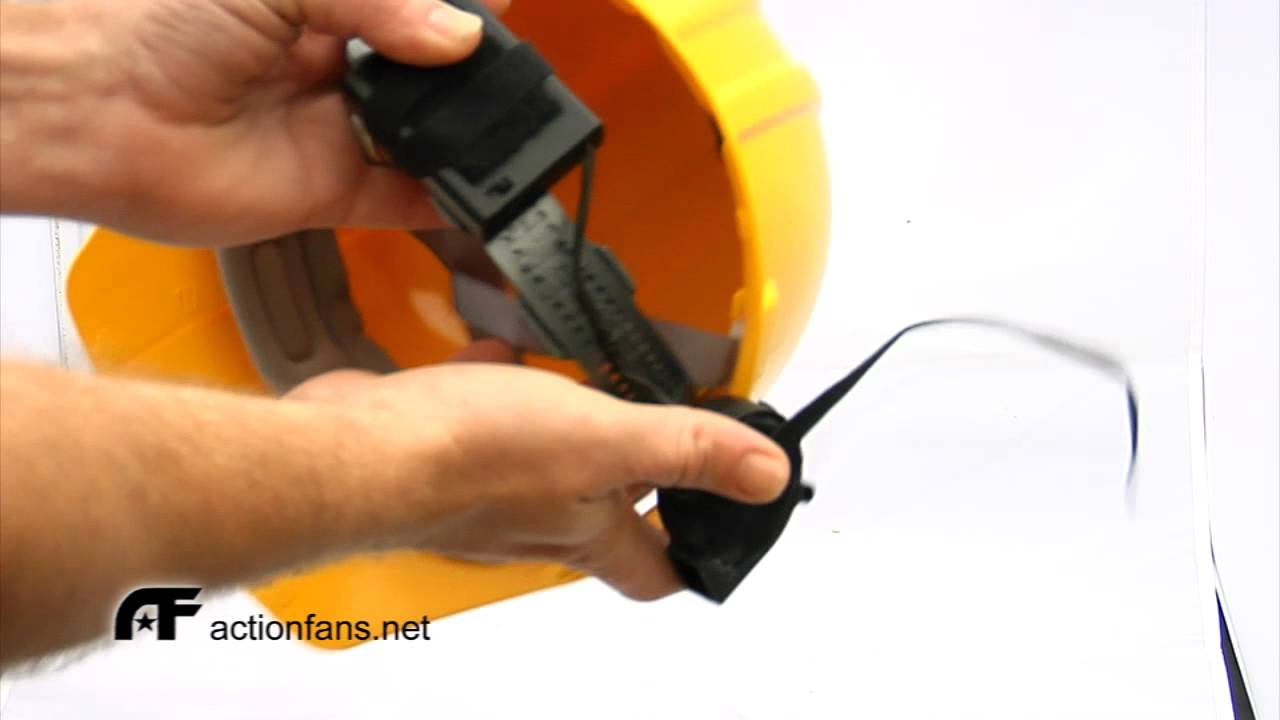 Action Fans Cyclone Mike installation in a standard Hard Hat actionfans net