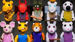 Making all Roblox Piggy Characters ➤ Part 4 ★ Polymer Clay Tutorial