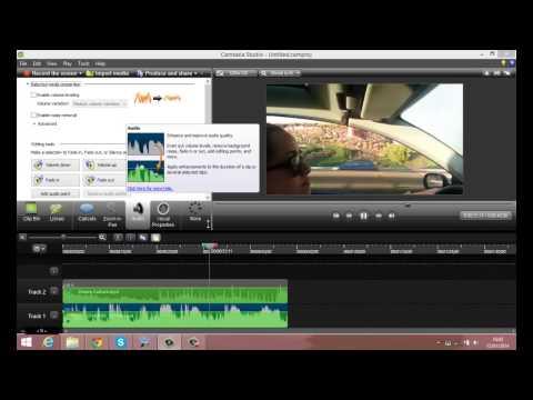Como editar  un video con camtasia 8 ,poner musica sin copyright 2014