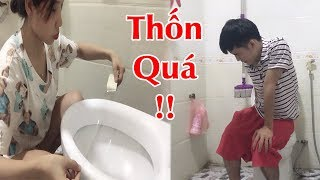 Hưng Vlog - Dán Băng Dính Lên WC Troll Người Yêu Thốn Quá