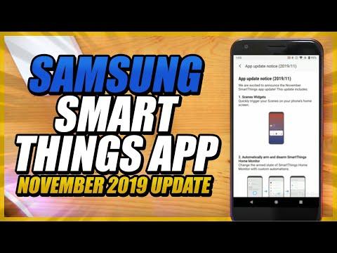 Samsung SmartThings App - November 2019 Update