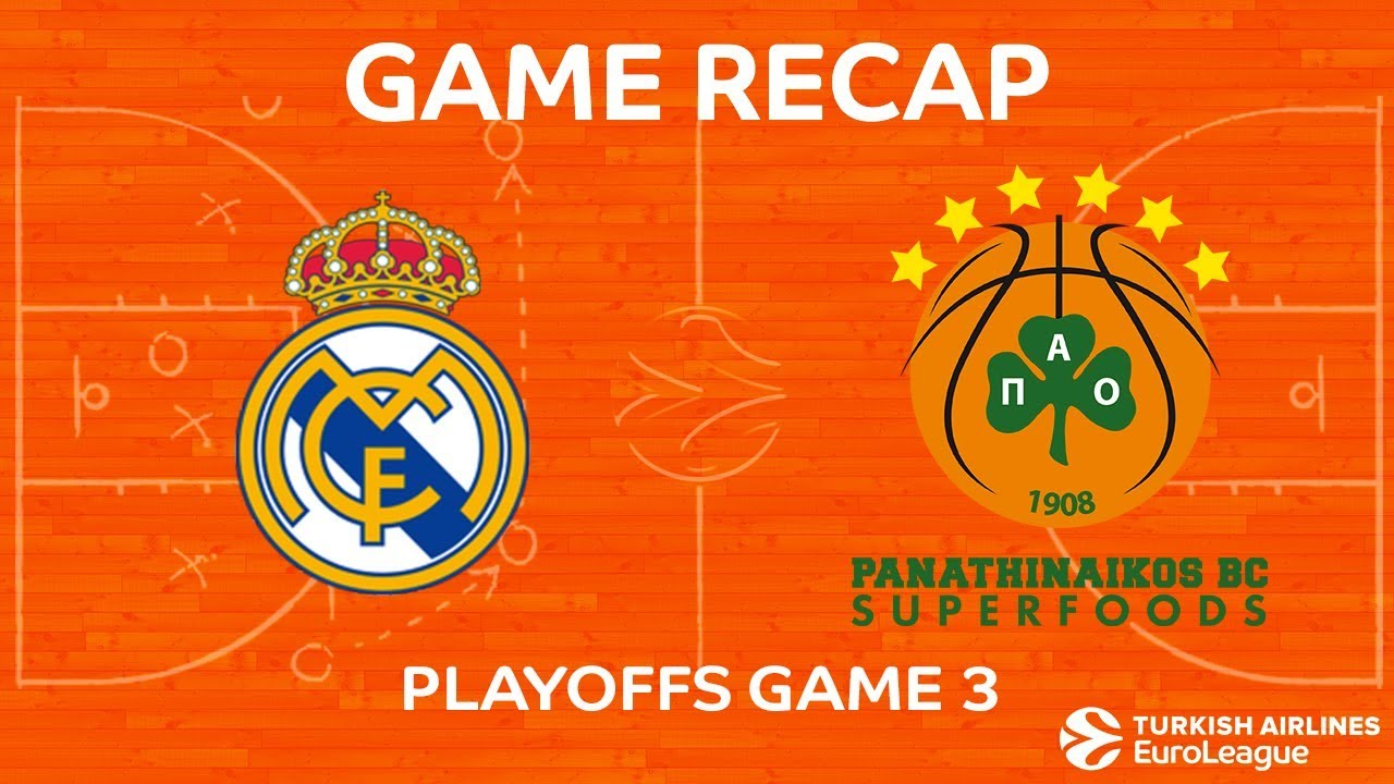 43bc7579630 Highlights: Real Madrid - Panathinaikos Superfoods Athens. EUROLEAGUE  BASKETBALL