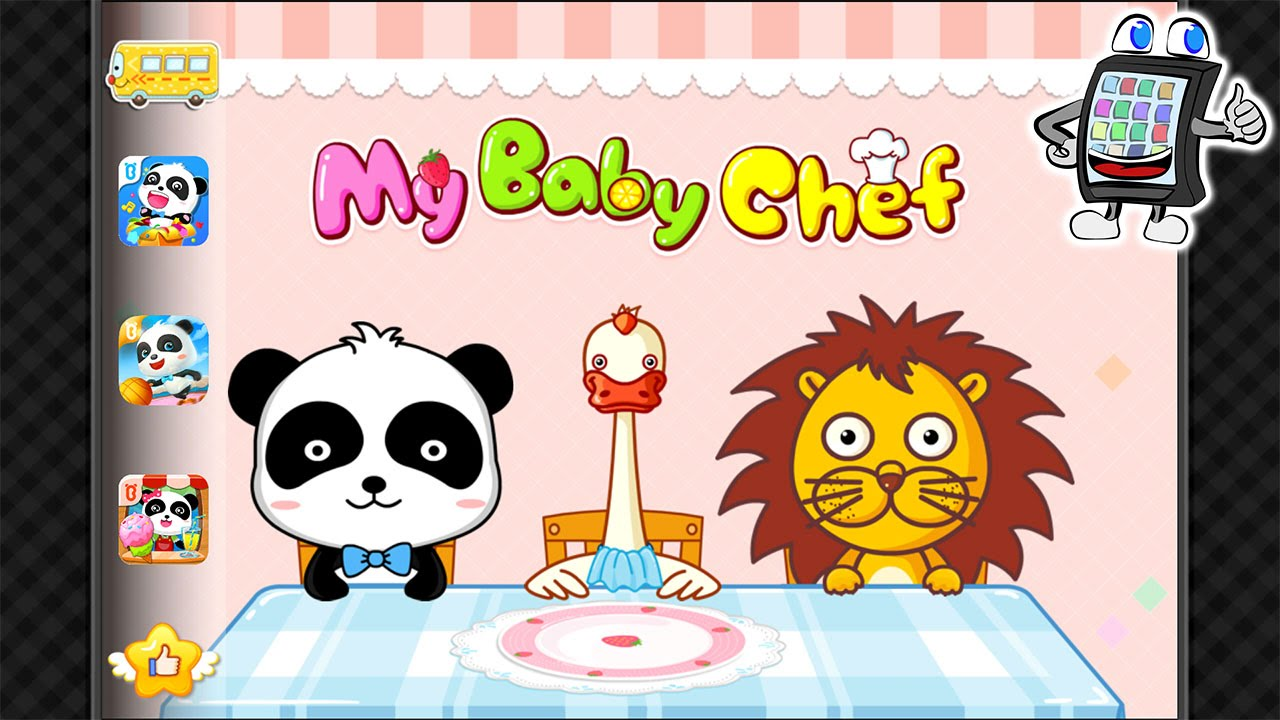 mein baby panda koch deutsch app f r kinder k chen spiel my baby panda chef gameplay youtube. Black Bedroom Furniture Sets. Home Design Ideas