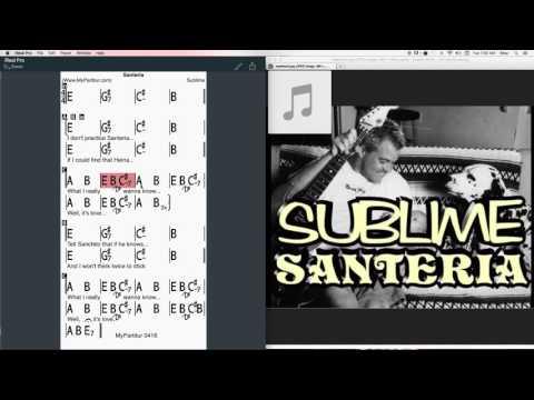 Santeria Chords at MyPartitur