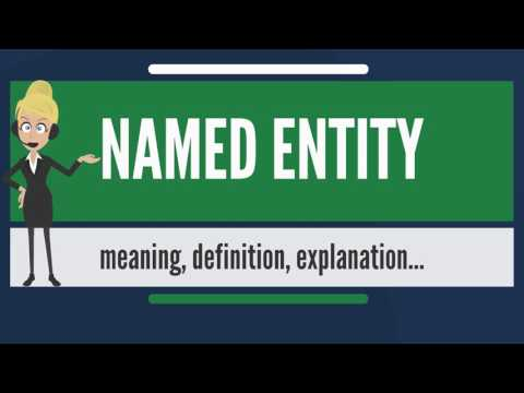 What is NAMED ENTITY? What does NAMED ENTITY mean? NAMED ENTITY meaning, definition & explanation