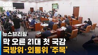 막 오른 21대 첫 국감…격전지 외통위·국방위 '…