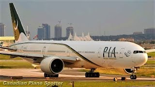 PIA (Pakistan International Airlines) 777-300ER Landing & Takeoff At Toronto Pearson Airport (YYZ)