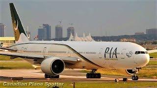 PIA (Pakistan International Airlines) 777-300ER Landing & Takeoff At Toronto Pearson Airport (YYZ)
