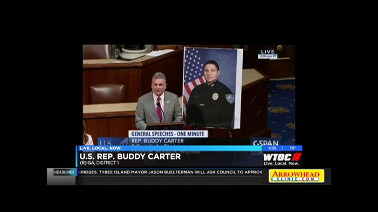 Rep  Carter Recognizes Savannah Police Department Patrol Officer Anthony  Christie (WTOC)