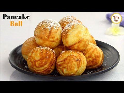 Eggless Pancake Ball - Danish PANCAKE Aebleskiver Recipe By Tiffin Box | Kids Lunch Box Idea
