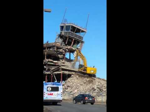 Taking down the tower at Bradley airport in CT