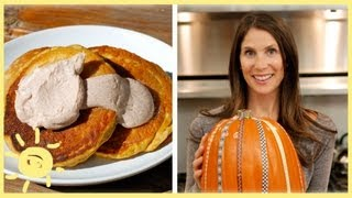 Meg | Pumpkin Pancakes With Cinnamon Maple Sauce