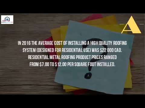 How Much Does A Metal Roof Cost Canada%3F