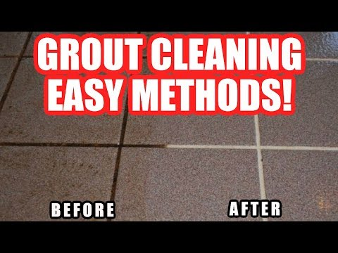 How to Clean Grout on Tile Floor in Shower/Bathroom Using Household Products