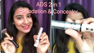 ₹50 ADS Double Action Foundation & Concealer Review & Demo | Nukhrewali