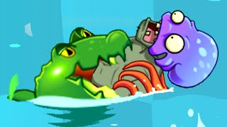 Plants vs. Zombies 2 - Big Wave Beach Part 2, Day 19 (Bowling with Octo-zombie)!)