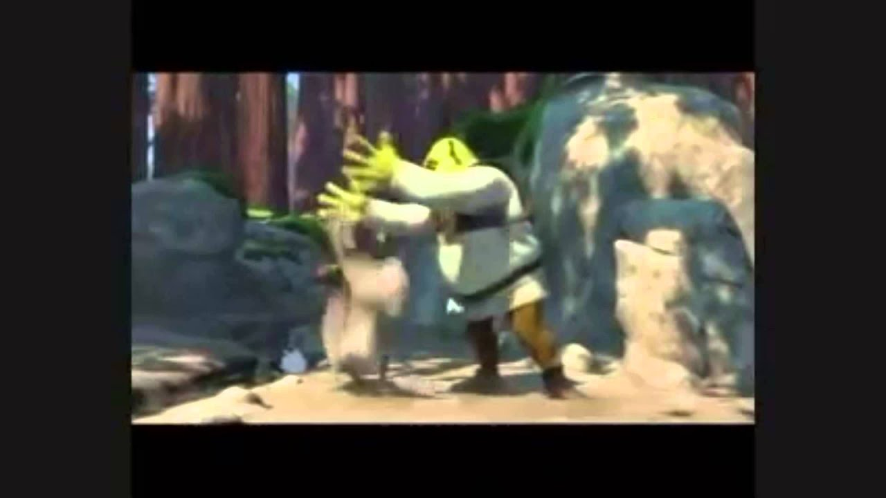 donkey follows shrek into the woods   YouTube