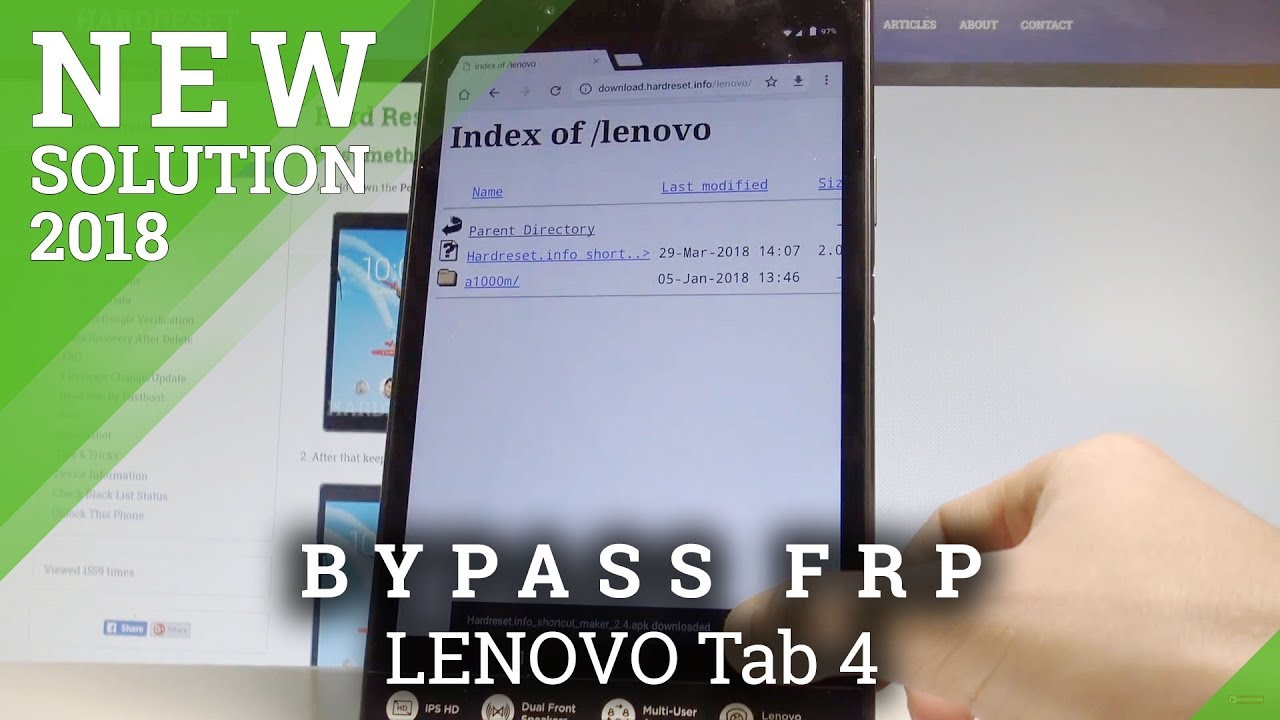 How to Bypass Google Account LENOVO Tab 4 - Unlcok FRP in LENOVO Tablet