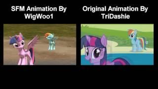 pony girl sfm comparison
