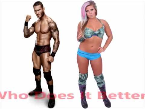 Randy Orton vs Barbi Hayden- Elevated DDT