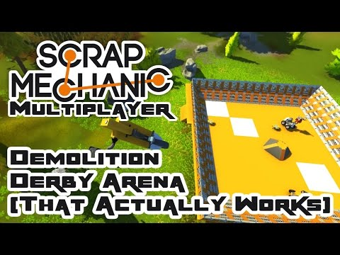 Let's Build A Demolition Derby Arena That Works!  - Let's Play Scrap Mechanic Multiplayer - Part 217