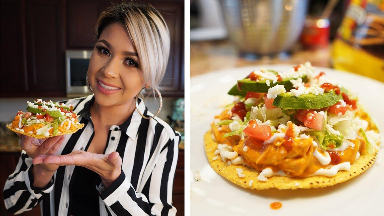 HOW TO MAKE CREAMY CHIPOTLE CHICKEN TOSTADAS