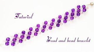 #МК - Браслет из бусин и бисера   #Tutorial - Bead and bead bracelet