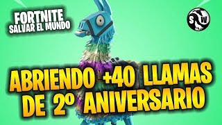 Fortnite Save the World ? OPENING MORE THAN 40 FLAMES OF 2ND ANNIVERSARY