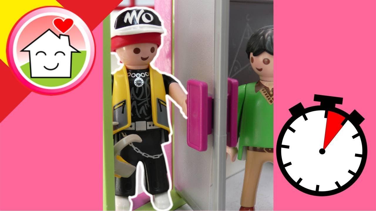 Playmobil en español bromas Sigi llega tarde a clase - La familia Hauser #shorts