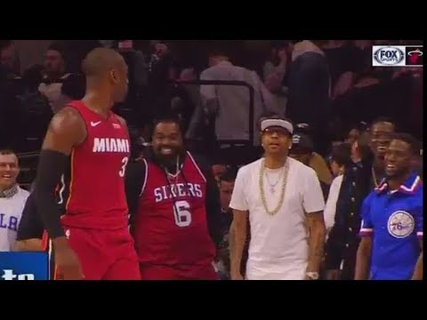 Dwyane Wade Trash Talks Kevin Hart and Stares Him Down (VIDEO)