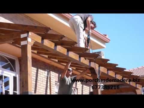Palapa de madera proceso de construccion doovi - Como hacer un porche ...