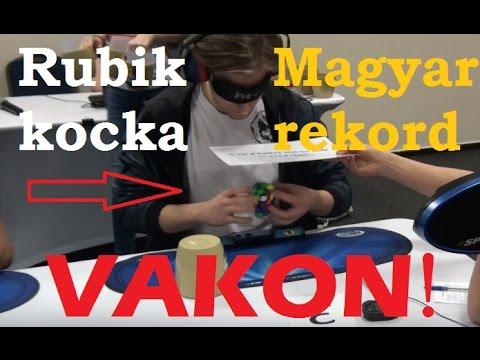 Rubik's cube Blindfolded 25.08 Hungarian Record [Ádám Barta]