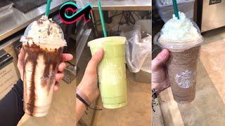 Making Starbucks Drinks   Starbucks Drinks Recipes  Tik Tok Compilation