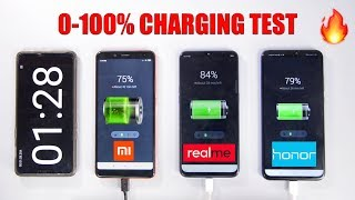 Honor 8X vs Realme 2 Pro vs Redmi Note 5 Pro Battery Charging Speedtest | 0-100% Charging Time 🔋🔥