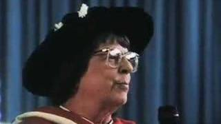 Jane Rule upon receiving an honorary degree from UBC in 1994