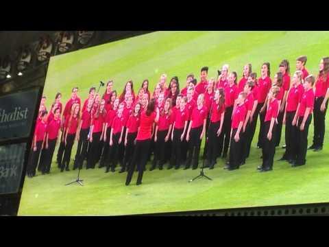 Montgomery Intermediate School Elite Choir -- Astros National Anthem 05MAY15