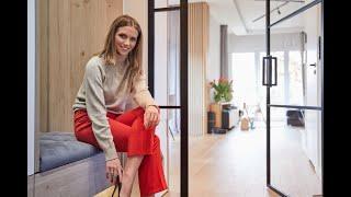 Drzwi loftowe ze szkłem DIAMANT w nowym domu Agnieszki Kaczorowskiej-Peli