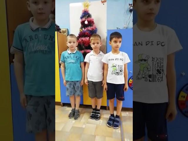 Изображение предпросмотра прочтения – «Семен, Андрей и Максим» читает произведение «Снежок» Ф.И.Тютчева