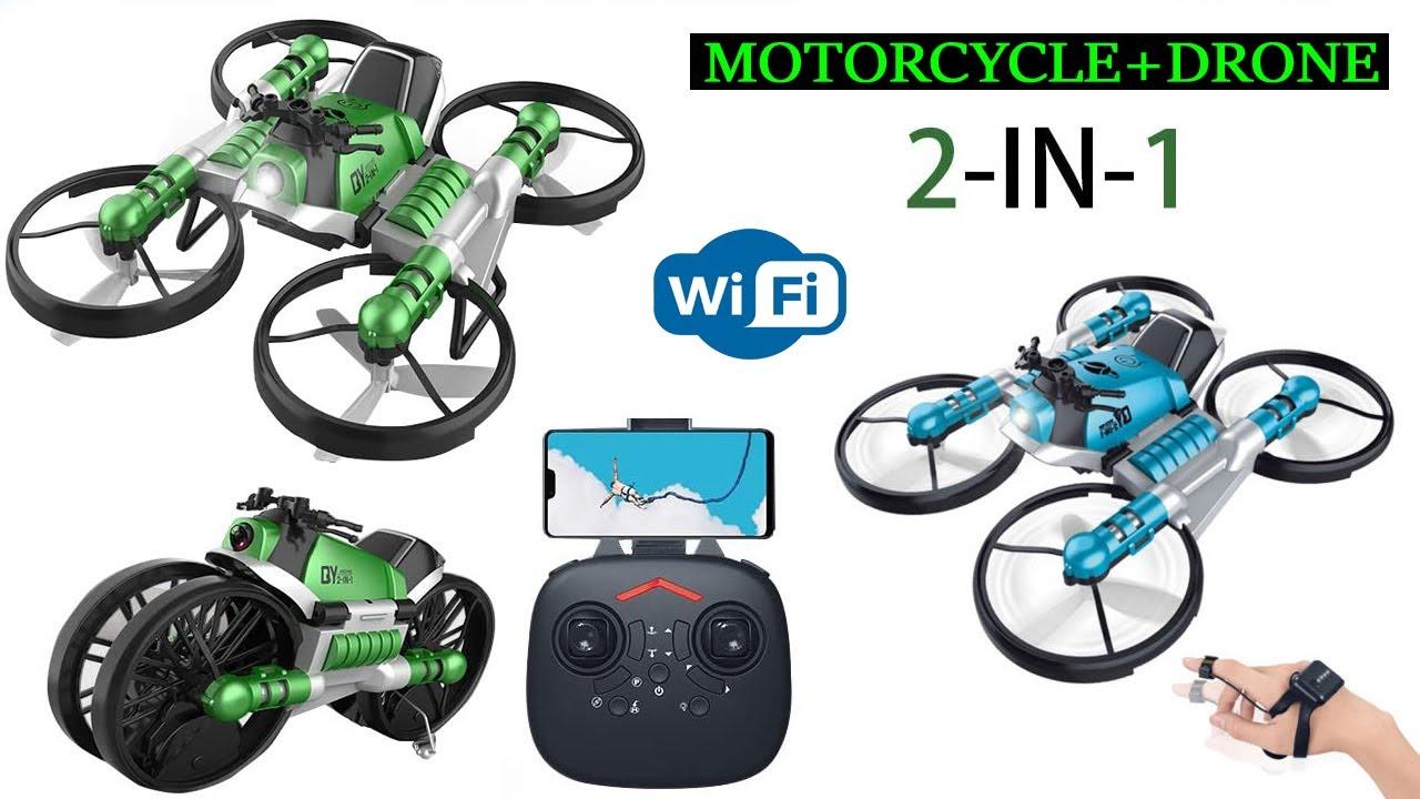 এবার আরো কমদামে  মোটরসাইকেল + ড্রোন,2-in-1 Camera Drone and Remote Control Motorcycle, Water Prices