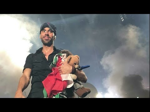 Enrique Iglesias performing on stage at the Forum, Los Angeles, CA