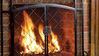 2-door Celtic Knot Flat Steel Fire Screens And Accessories Sku#11081
