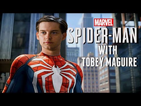SpiderMan PS4 with Tobey Maguire Voice Over!